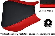 Personalizado de vinilo negro y rojo se adapta a Honda CBR 1000 RR Fireblade 04-07 Cubierta de asiento delantero