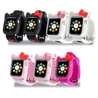 Hello Kitty For Apple Watch iWatch Series 4 3 2 1 Soft Silicone Case Cover +Band