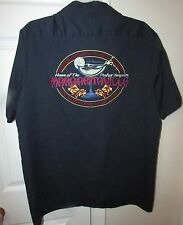 Jimmy Buffet's Margaritaville Navy Blue Mens Shirt Large