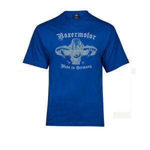 T-Shirt Boxermotor | BMW Aircooled R nine T R100 Caferacer Scrambler blau S-5XL