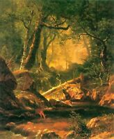 Albert Bierstadt White Mountains CANVAS Reproduction Fine Art Giclee Small 8x10