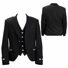 """Argyle kilt Jacket & Waistcoat/Vest,Scottish Argyle Jacket Mixed Wool 38"""" R-----"""