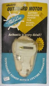 NEW Vtg 1960s FLEET LINE Toy Outboard JOHNSON MOTOR Craft Master Electric NOS