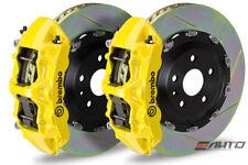 Brembo Front GT Brake 6Pot N Caliper Yellow 380x34 Slot Rotor Supra JZA80 93-98
