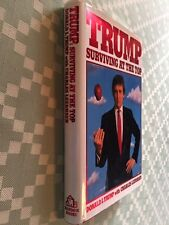First edition DONALD TRUMP SURVIVING TOP Real Estate Biography w signature stamp