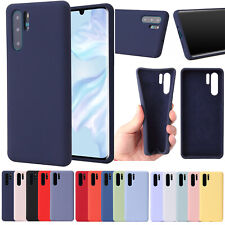 For Huawei P30 / P30 Premium Liquid Silicone Rubber Case +Glass Screen Protector