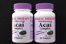 ACAI  BERRY complex  Dietary Supplement Powerful Antioxidant Wild Harv  Lot of 2