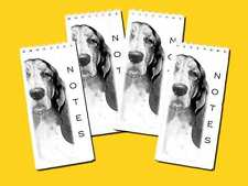 Basset Hound Dog Small Slim Note Pads pack of 4, Gift Set