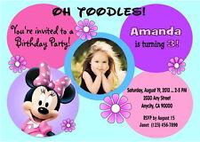 MINNIE MOUSE CUSTOM PRINTABLE BIRTHDAY PARTY INVITATION & FREE THANK U CARD
