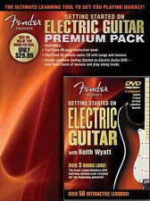 Fender Getting Started On Electric Guitar Pack Learn to Play Music Book & DVD