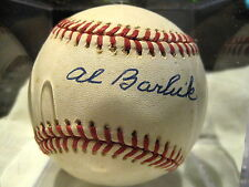 AL BARLICK [D-1995] SIGNED OFFICIAL NATIONAL   LEAGUE  BASEBALL HOF 1989