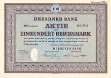 Dresdner Bank AG   Restquote  1952   Berlin / Frankfurt