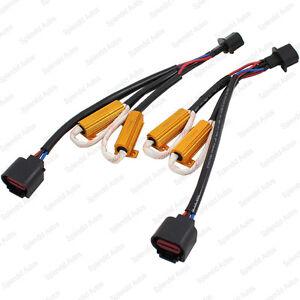 H13 9008 HID Conversion Kit Error Free Load Resistors Wiring Harness Adapters