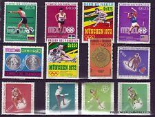 132T3 PARAGUAY 12 timbres  neufs Championnat et J.O du monde