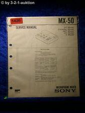 Sony Service Manual MX 50 Microphone Mixer (#1426)