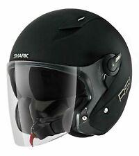 Shark RSJ Matte Black Open Face Helmet Motorcycle Motorbike Helmet M