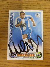 Wigan Athletic 2008/2009 autógrafo: - Brown, Michael [mano firmada 'Topps coinciden con una