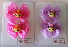 LALALOOPSY SPOTTED DOUBLE BOW HAIR CLIP SET