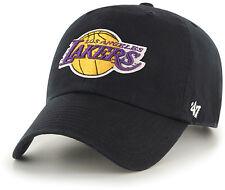 Los Angeles Lakers '47 Brand Black Clean Up Adjustable Dad Hat
