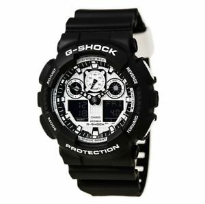 Casio G-Shock Analog-Digital Black/White Men's Watch GA100BW-1A