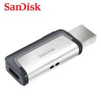 SanDisk Ultra Dual OTG Type-C USB 3.1 32GB Flash Pen thumb Drive SDDDC2 150MBs
