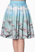 Banned Dancing Days Plus Oriental Blossom Skirt Sizes PinUp 50s Small - 4X-Large