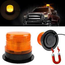 Car Bus Roof Emergency Flash Strobe Round LED Beacon Warning Light Magnetic Base