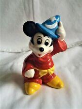 Vintage Japan Mickey Mouse Disney Fantasia Sorcerer's Apprentice Wizard Figurine