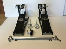 TRICK DOMINATOR BASS DRUM PEDALS DOUBLE .superb example