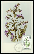 JERSEY MK 1972 FLORA WILD FLOWER VIPERS BUGLOSS CARTE MAXIMUM CARD MC CM ba12