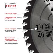 "8Circular Saw Blade 7-1/4"" 5/8"" 1 pc 40T Carbide Tip Table for DeWalt & Makita"