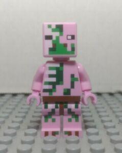 LEGO Minecraft NEW Micromob Zombie Pigman Minifigure with Golden Sword 21106