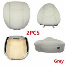 2Pc Grey PU Leather 3D Full Surround Car Seat Protector Seat Cover Accessories
