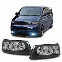DOUBLE LENS HEADLIGHTS HEADLAMPS FOR VW T5 04/2003-08/2009 MODEL H7 H1