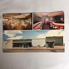 Plaza Cafeteria Cocktail Lounge Pompano Beach Florida Unposted Postcard
