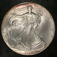 1996 Uncirculated American Silver Eagle US Mint Issue 1oz Pure Silver #H777