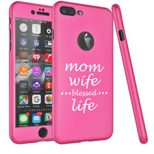 For iPhone 360° Thin Slim Case Cover + Screen Protector Mom Wife Blessed Life