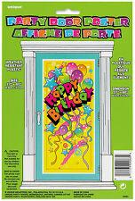 Plastic Happy Birthday Door Poster Party Supplies Kids Decoration Banner Fun!