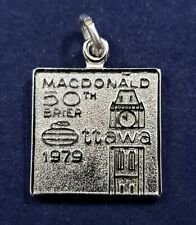MacDonald 50th Brier 1979 Curling Championship Sterling Silver Bracelet Charm