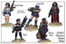 Foundry Miniatures Street Violence: Blood On The Sidewalk Olivia's Street Girls