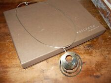SILPADA  Hammered Three Ring Pendant with Necklace  N1329 W/BOX RETIRED