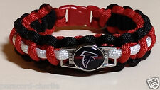 Atlanta Falcons Red, Black & White Handmade Paracord Bracelet or Lanyard