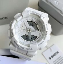 Casio G-Shock S Series * GMAS110CM-7A1 White Glossy Resin Watch for Women