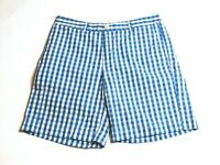 Vineyard Vines Mens Breaker Shorts Size 32 Blue White Checks 9 inch inseam