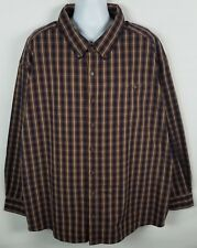 C E Schmidt Workwear Shirt Mens 4XL Long Sleeve Button Front Paid Cotton Blend