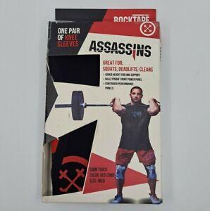 RockTape Assassins Knee Sleeves Size Medium 5mm Thick Red Camo Weight Training