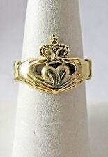 Vintage 14K Yellow Gold Irish Claddagh Ring Size 6.5