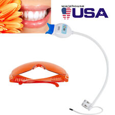 US Dental Oral Teeth Whitening Lamp Bleaching LED Cold Light Accelerator +Goggle