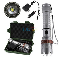 5000LM T6 Self-Defence Rechargeable Tactical LED Light Flashlight Torch Set