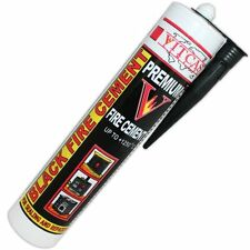 VitCas Premium Black Fire Cement - 310ml For Fireplaces, Stoves, Boilers